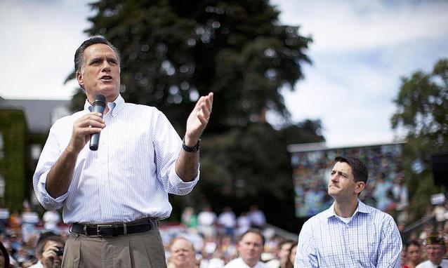 """Romney alla Convention con i suoi gravi problemi di """"identità"""""""