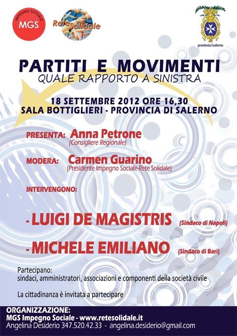 """Salerno, """"Partiti  e  Movimenti"""""""