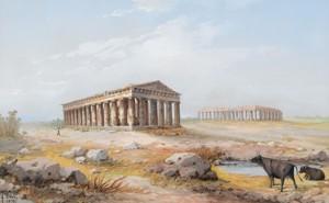 Il paesaggio di Paestum in una veduta del 1898