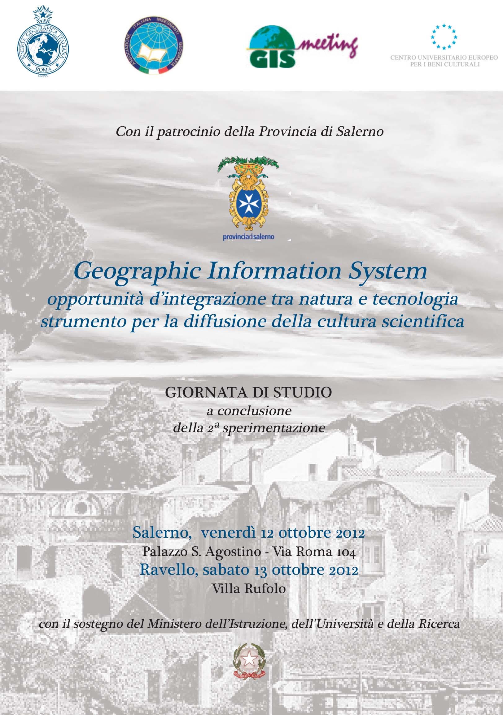 La Società Geografica Italiana a Salerno e a Ravello ci racconta i GIS
