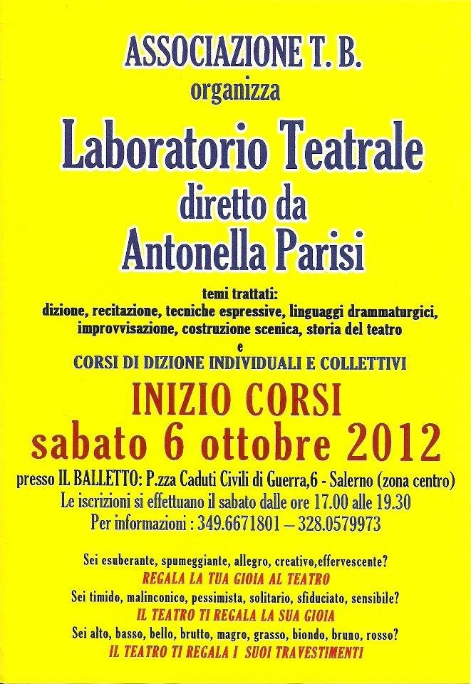 Salerno, al via il laboratorio teatrale di Antonella Parisi