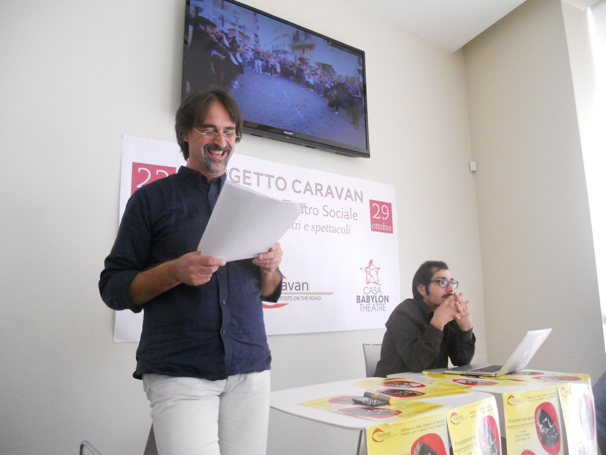 """""""Caravan. Artisti on the road"""", una settimana di teatro per tutti a Pagani"""