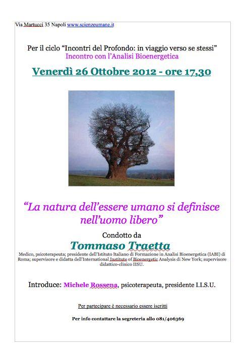 Incontri del Profondo, venerdì nuovo appuntamento a Napoli