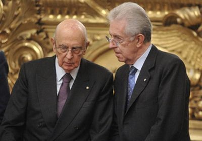 Mario Monti va al Colle per resistere fino a marzo