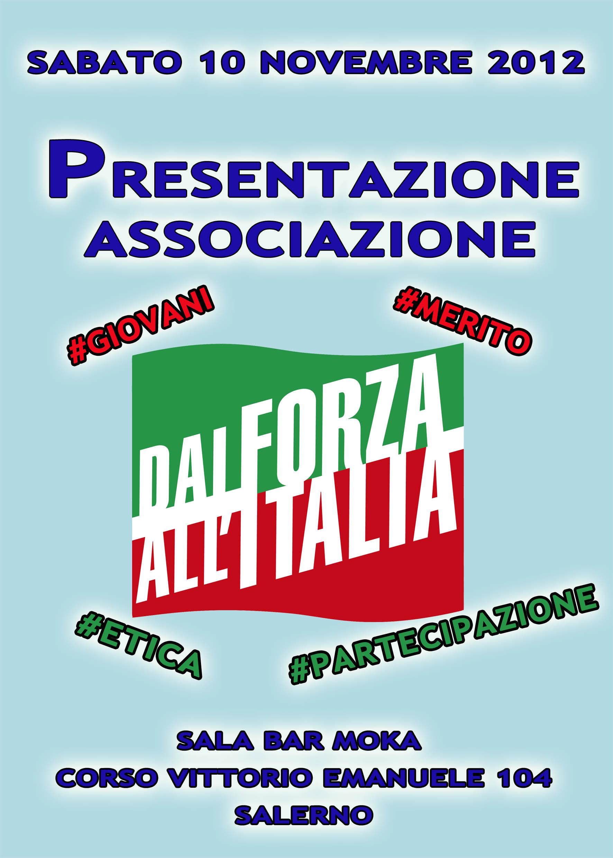 """""""Dai forza all'Italia"""", sabato la presentazione a Salerno"""