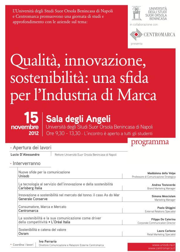 Qualità, innovazione e sostenibilità: se ne parla al Suor Orsola