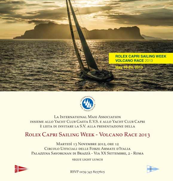 La Rolex Capri Sailing Week/Volcano Race 2013 a Roma