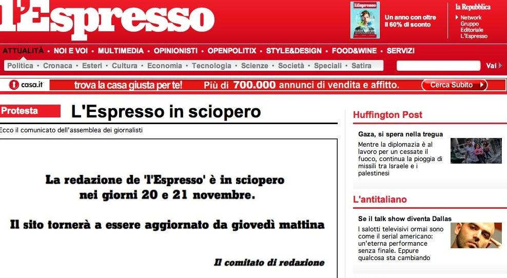 Giornali, la crisi è nera: due giorni di sciopero all'Espresso