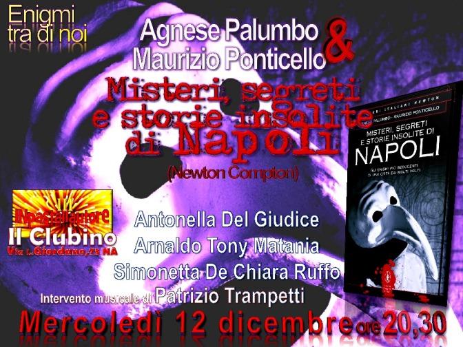 L'anima di Napoli con Misteri a Inpastallautore III, il 12 dicembre dalle 20,30