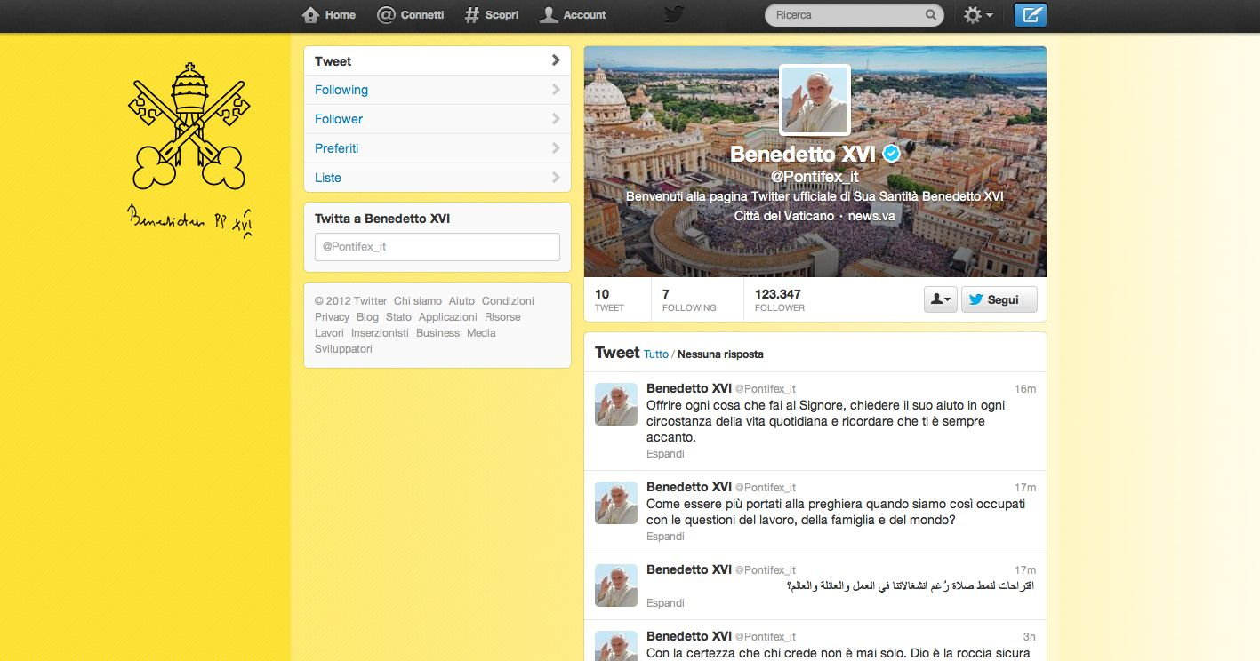 Spopola Benedetto XVI in versione multimediale