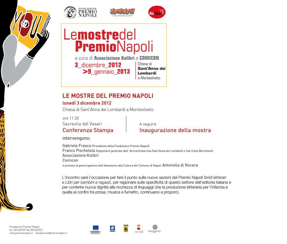 Le mostre del Premio Napoli, il 3 dicembre la presentazione
