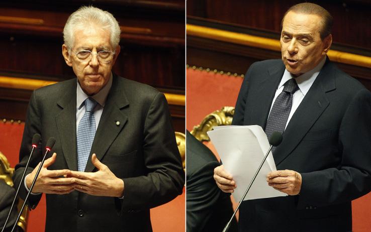 """Monti e Berlusconi alla guerra del """"piffero"""""""