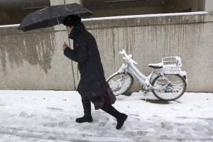 Snowfall in Geneva