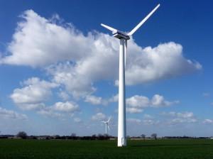 Fig 2.13 Horizontal axis wind turbines near Winterton, Norfolk