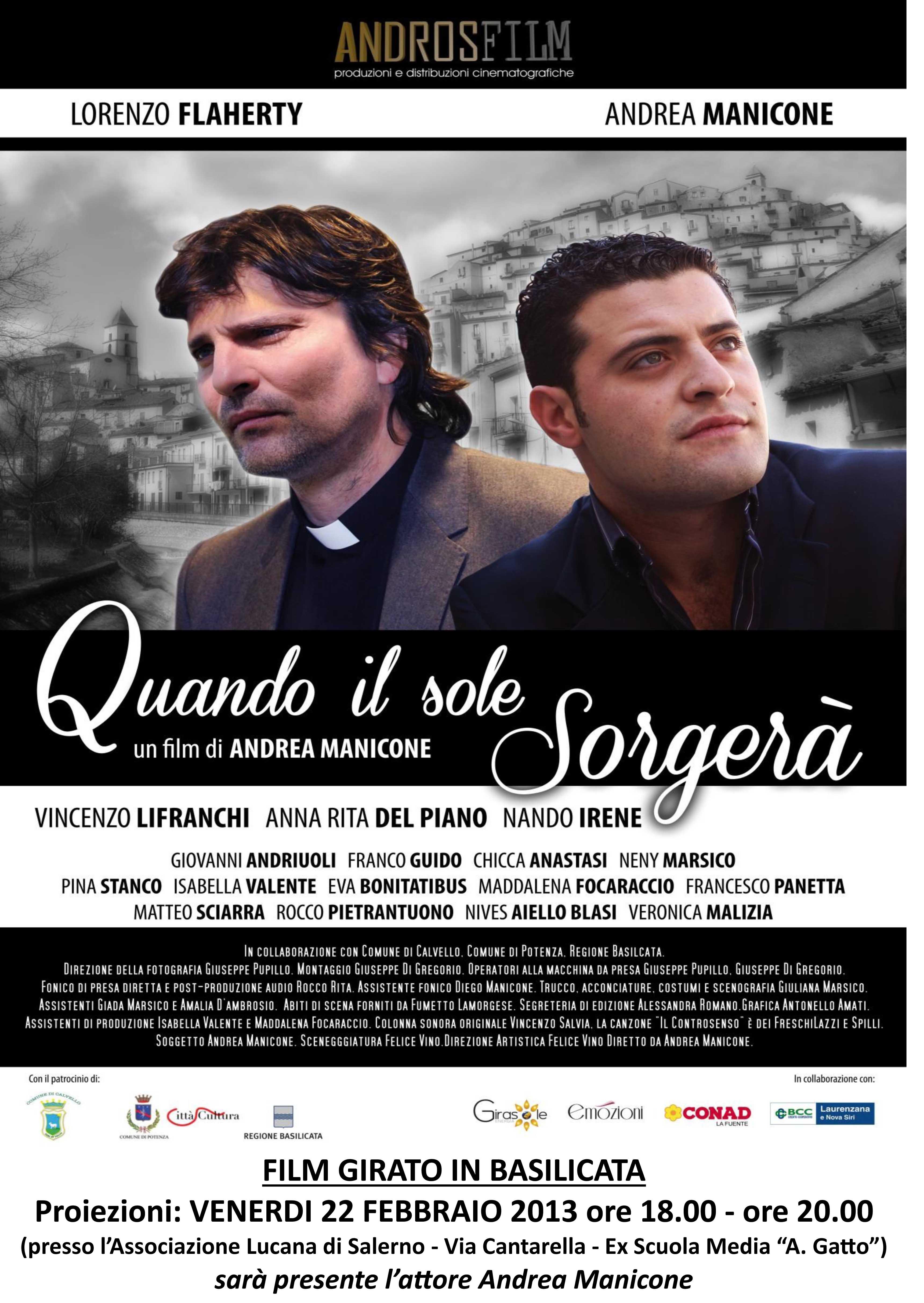 """A Salerno la prima del film """"Quando il sole sorgerà"""""""
