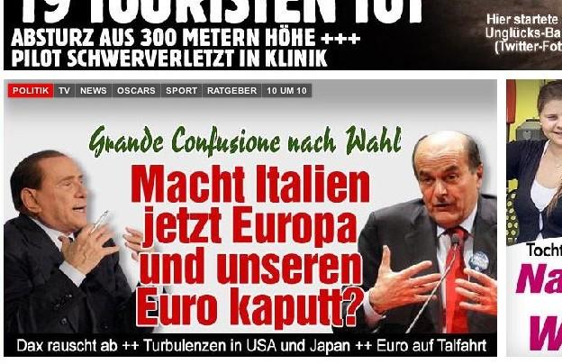 La stampa straniera: voto schizofrenico, Euro a rischio