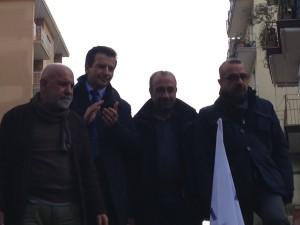 Ciancio, Lombardi, Adinolfi e De Blasio in occasione della manifestazione a gennaio
