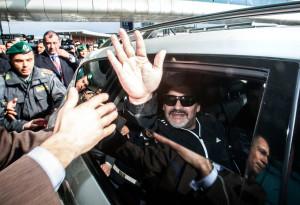 Arrivo di Diego Armando Maradona all'aeroporto di Fiumicino Roma