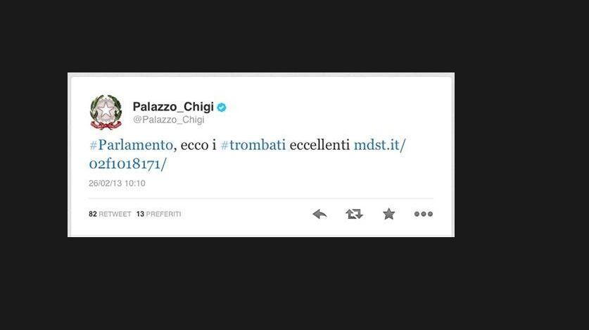 La gaffe di Palazzo Chigi sui trombati eccellenti