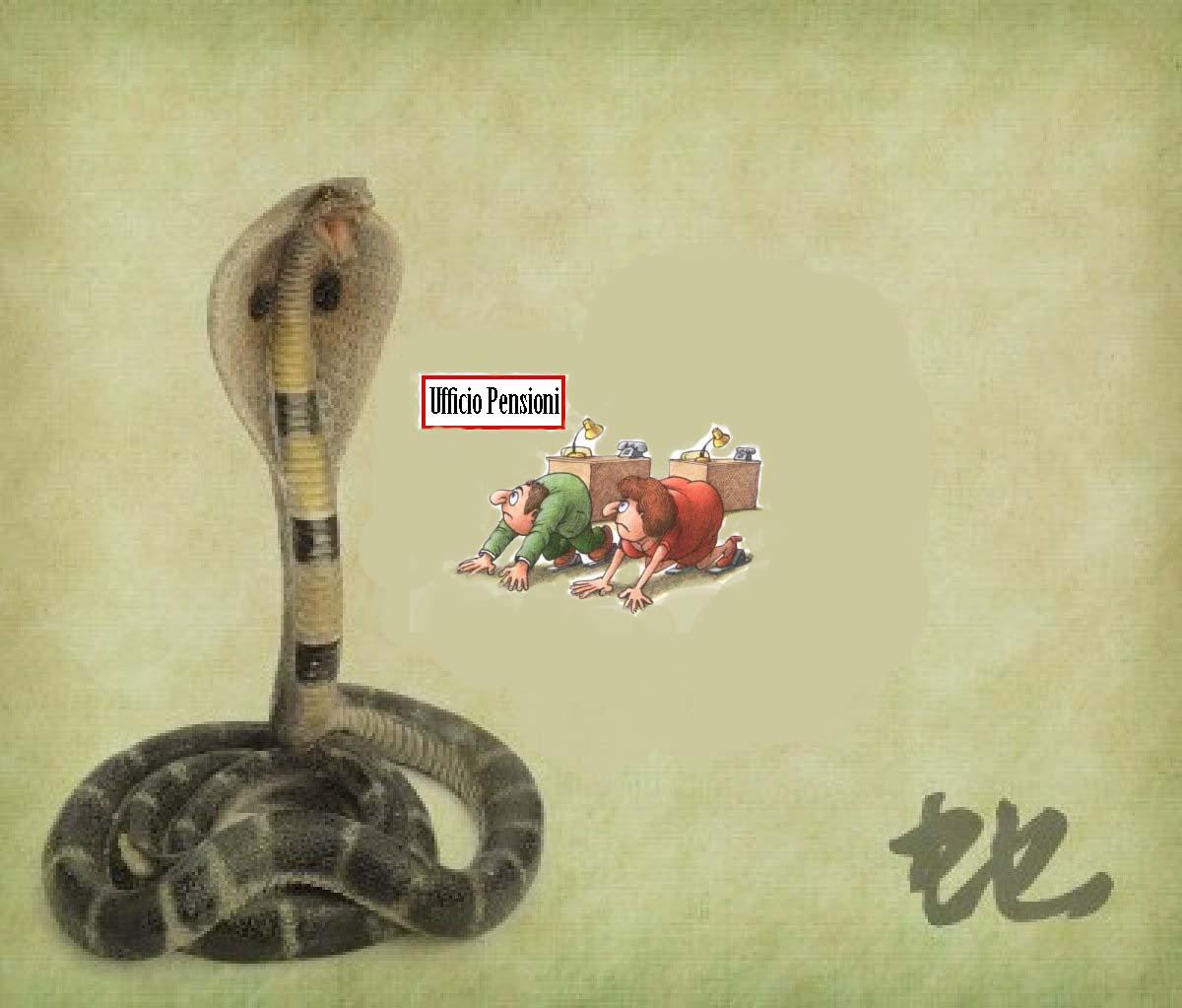 I serpenti cinesi non mordono la coda, ma le nostre pensioni…
