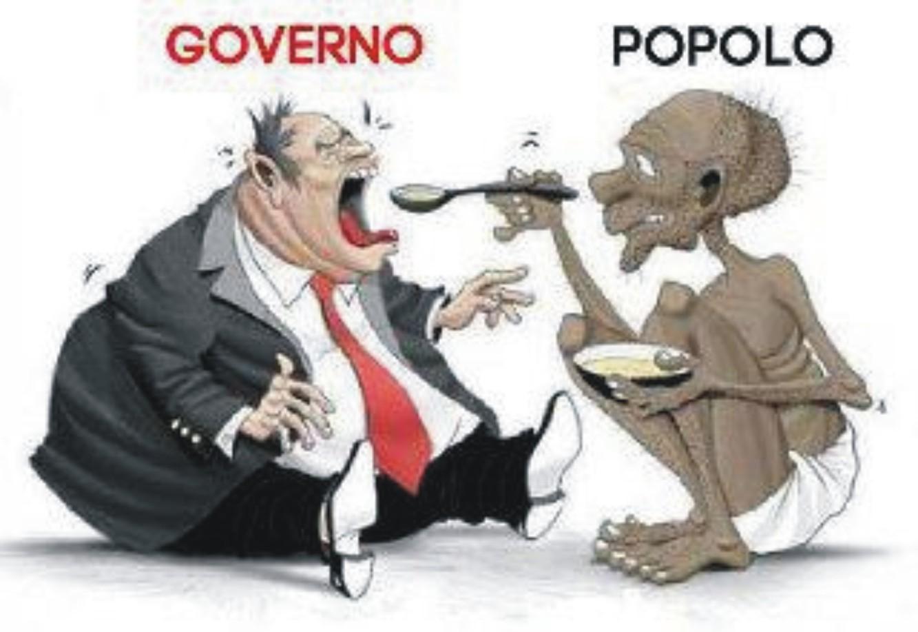 Se il potere si arrocca e mortifica (e affama) il popolo
