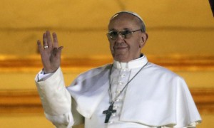 Il nuovo Papa Jorge Mario Bergoglio con il nome di Francesco I