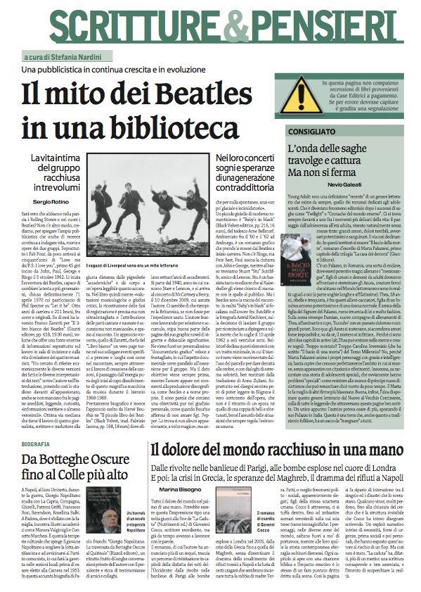 Scritture&Pensieri, il domenicale del Corriere Nazionale
