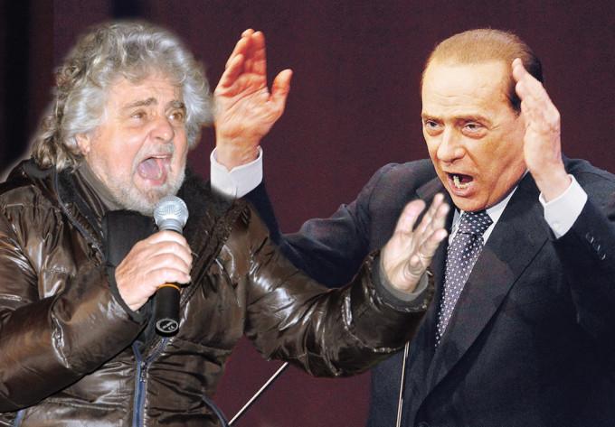 Le bugie di Berlusconi parlano d'Europa, il nulla di Grillo deprime