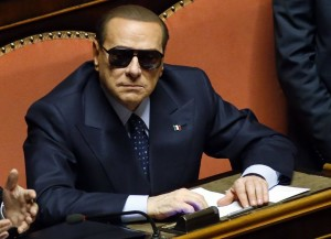 Italy's former prime minister Silvio Berlusconi attends a session at the Senate in Rome