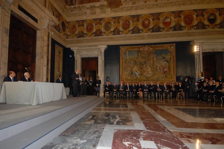 Cavalieri e Alfieri del Lavoro premiati oggi da Napolitano