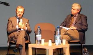 Andrea Manzi (a sinistra) intervistato da Mariano Ragusa