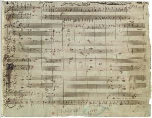 La partitura del Don Giovanni di Mozart