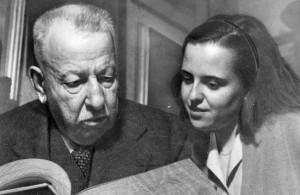 Benedetto Croce con la figlia Lidia