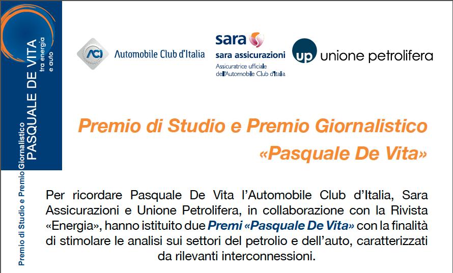 Premio di Studio e Premio Giornalistico «Pasquale De Vita»