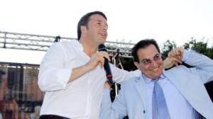Crocetta con il premier Renzi