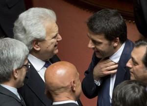 Il parlamentare Denis Verdini con il premier Renzi