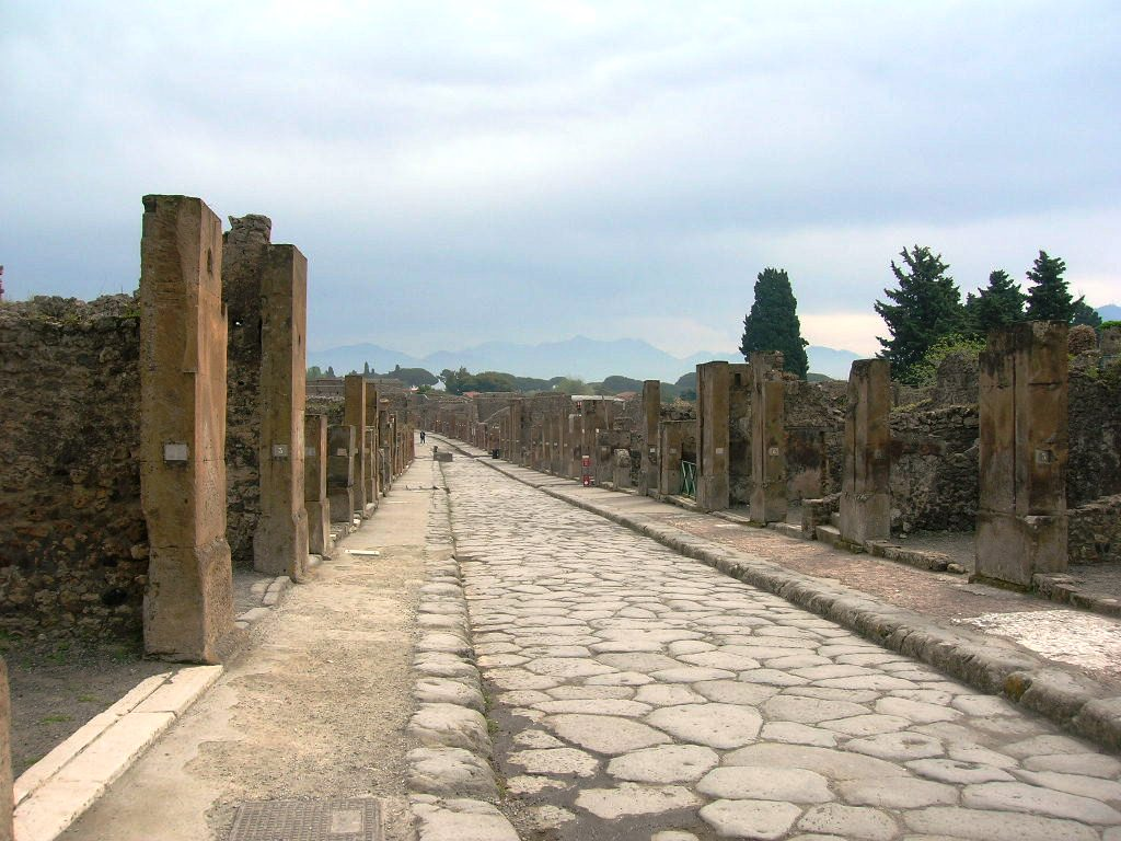 Turista  a Pompei