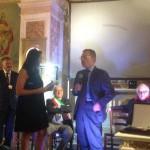 Daniela Bruzzone con Andrea Manzi (tra i premiati di quest'anno).