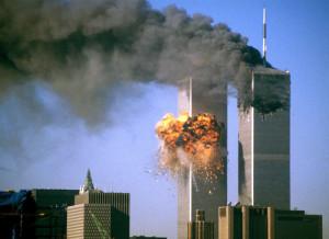Le Torri Gemelle dopo l'attacco terroristico del 2001