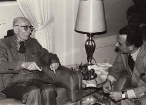 Ottorino Gurgo (a destra) in una foto d'archivio con Indro Montanelli