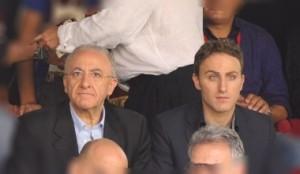 Vincenzo De Luca con il figlio Piero
