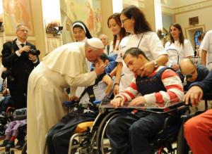Papa Francesco in visista ad Assisi