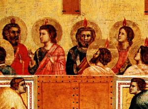 """""""Pentecoste"""" di Giotto (National Gallery di Londra)"""