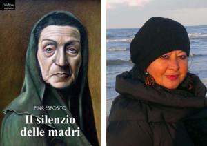 Nella doppia foto, la copertina del libro e l'autrice