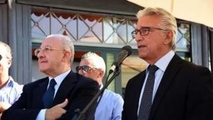 Enzo Napoli con De Luca (a sinistra)