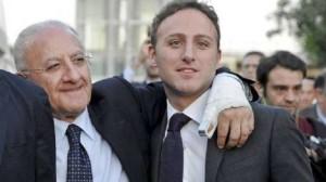 De Luca con il figlio Piero, oggi parlamentare